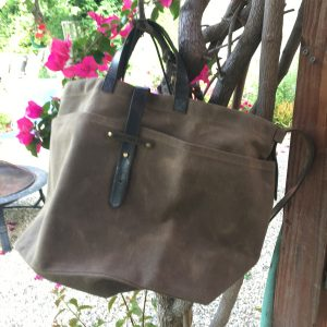 Large Waxed Canvas Tote by PEG&AWL ¥43,000