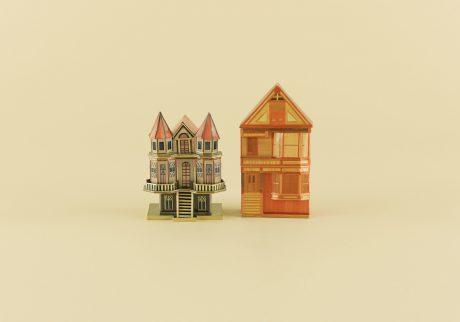 中国の藁細工の家