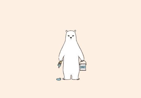 白くまのナヌークのつぶやき。「家のこと。」