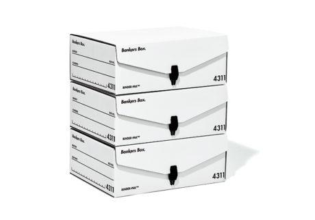 A4ファイルが入る〈フェローズ〉の新型バンカーズボックス。