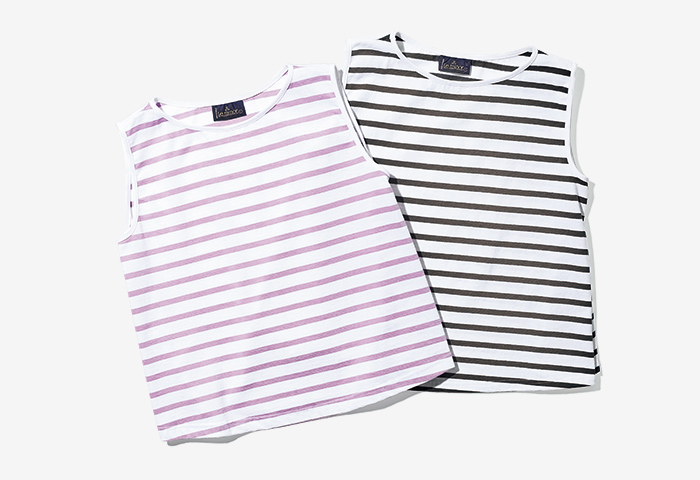 LE MINOR × DEMI-LUXE BEAMS striped summer top