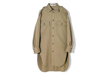 ディテールにまでこだわった〈アンスクリア〉のミリタリーシャツ。