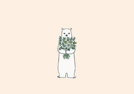 白くまのナヌークのつぶやき。「花のこと。」