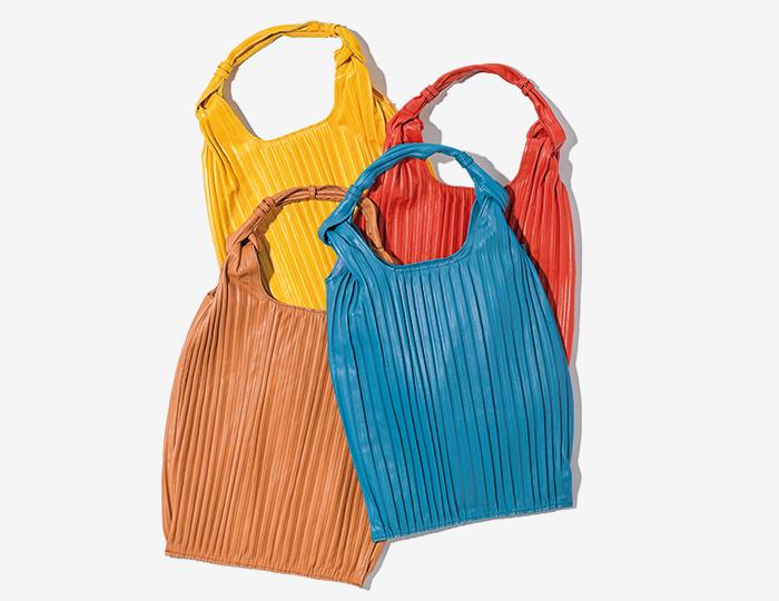 ANITA BILARDI nappa leather pleated bag