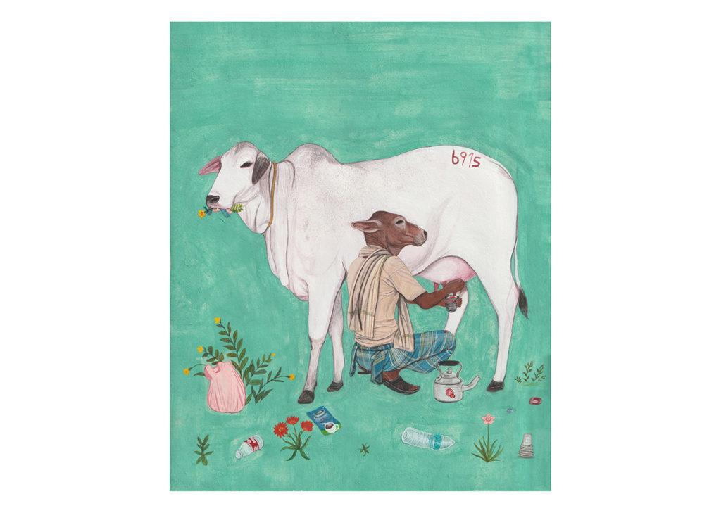 ジャティンダー・シン・ドゥハレによる絵画。