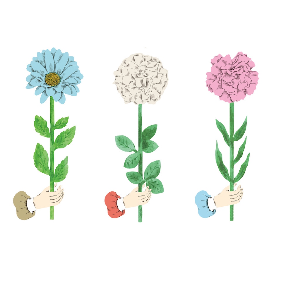 お花をどうぞ