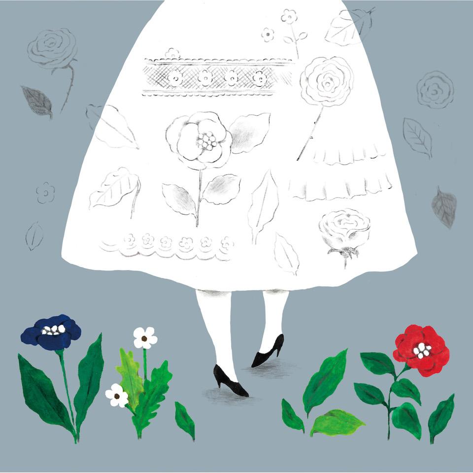 13お花ワンピース