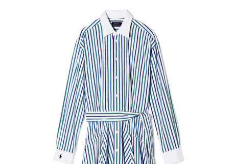 幅広いシーンで活躍する〈ポロ ラルフ ローレン〉のシャツドレス。