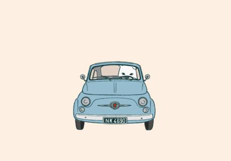 白くまのナヌークのつぶやき。「車のこと。」