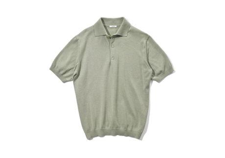 スーピマコットンとシルクを使用した〈リノ〉のポロシャツ。