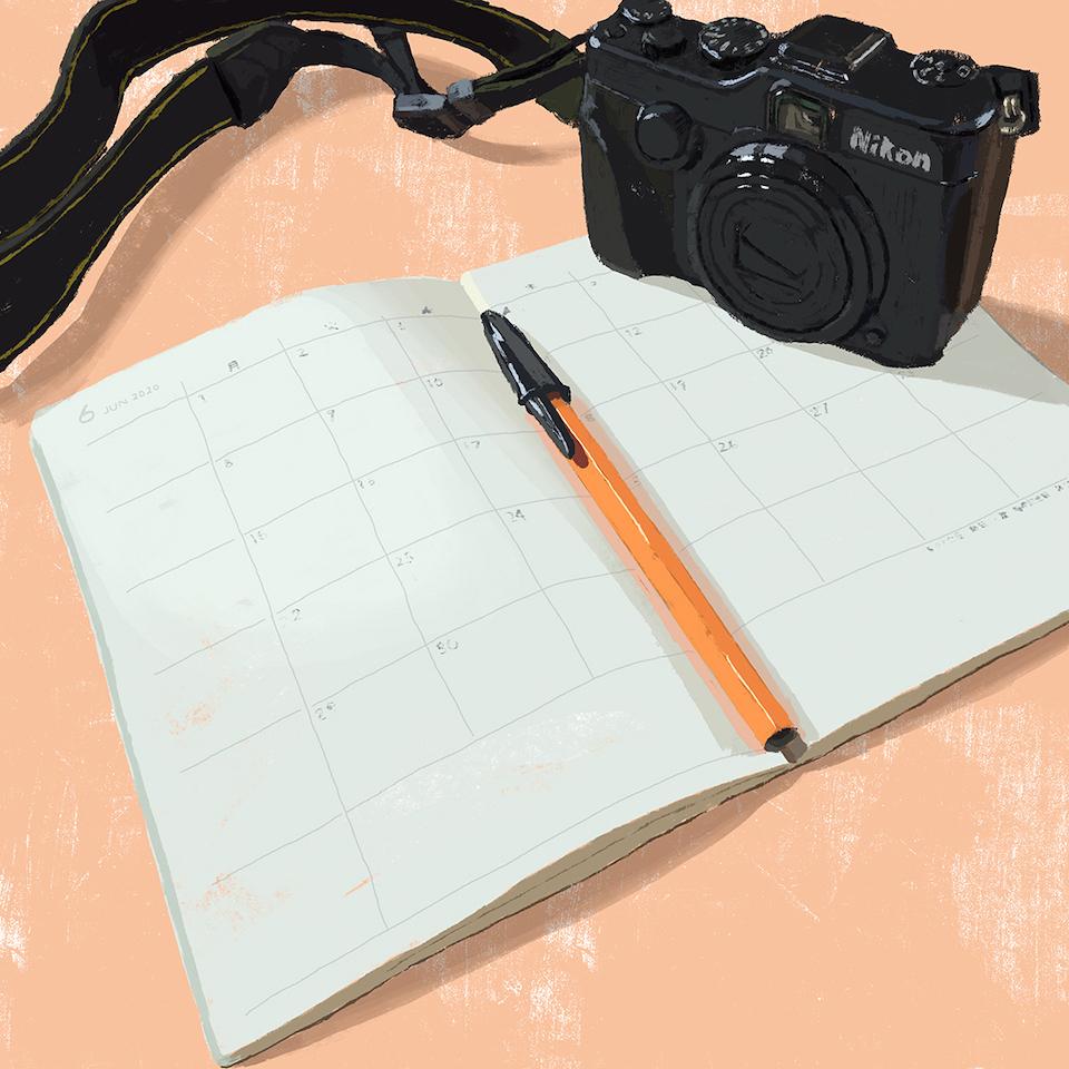 31カメラとスケジュール帳