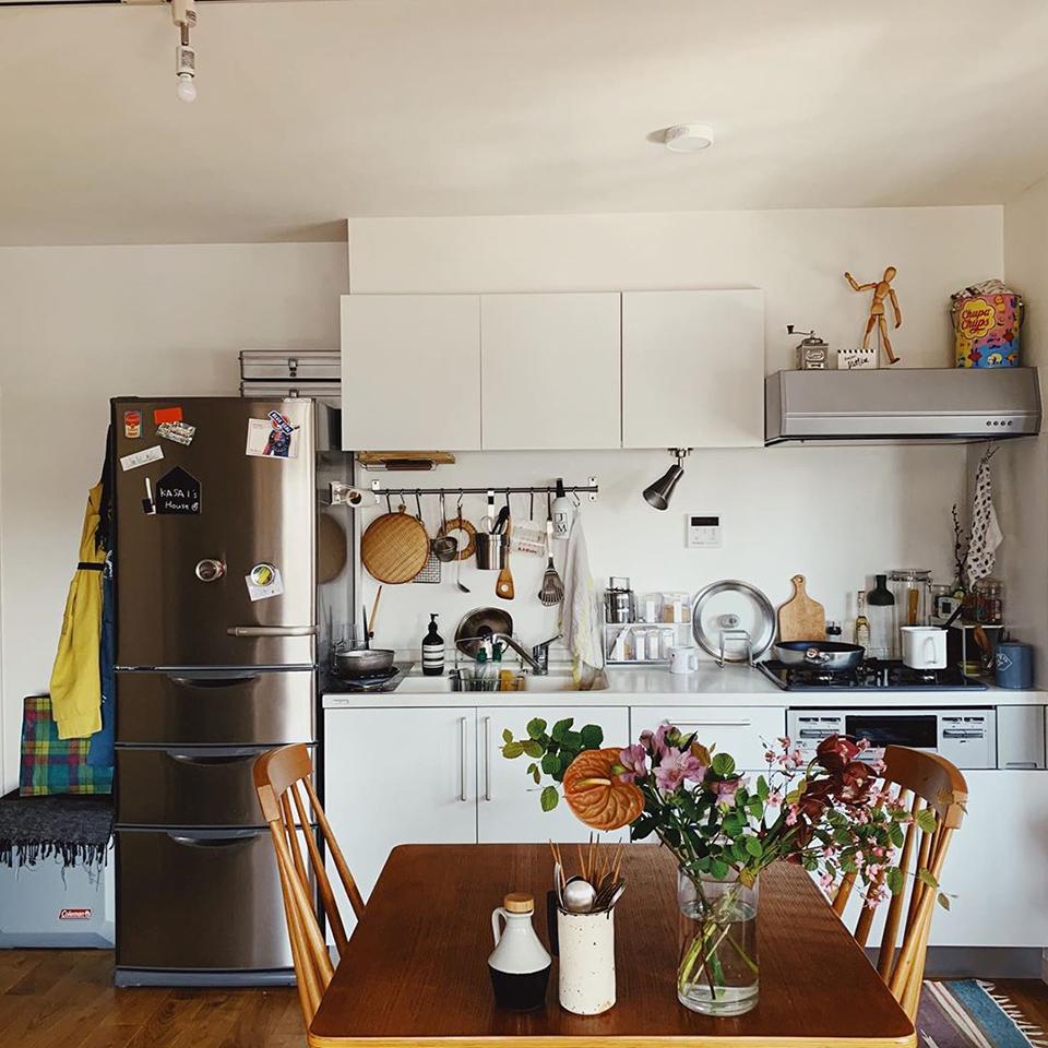 使い勝手のいい 台所と料理道具 毎日この家に住んでよかった〜と思わせてくれる我が家の台所 出しっぱなしにしてる暮らしの道具さえもなぜかかわいく見える🌿