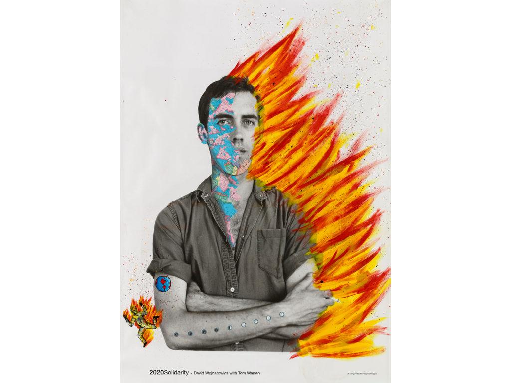 David Wojnarowicz with Tom Warren / Self-Portrait of David Wojnarowicz