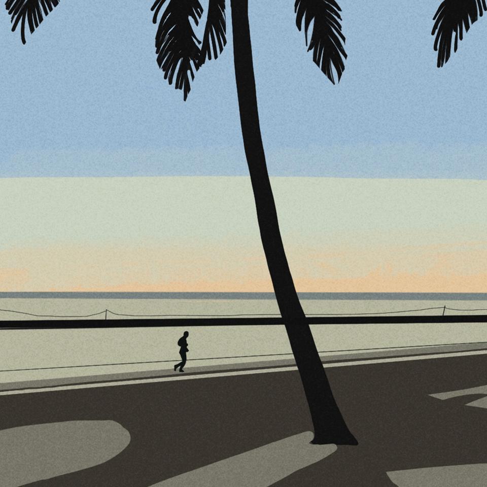 8_朝のビーチ