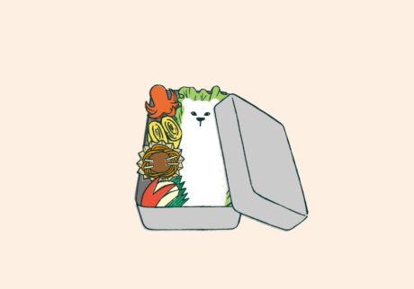 白くまのナヌークのつぶやき。「お弁当のこと。」