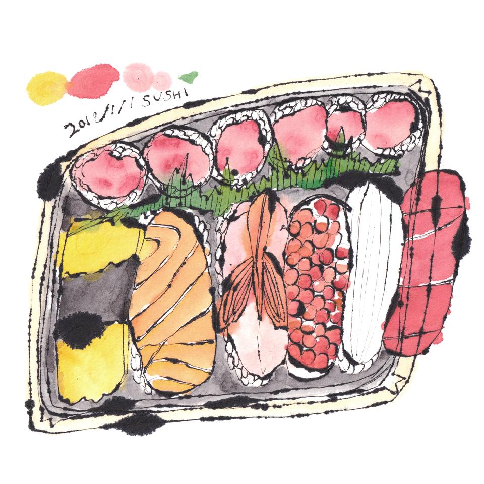 東京駅で買った寿司
