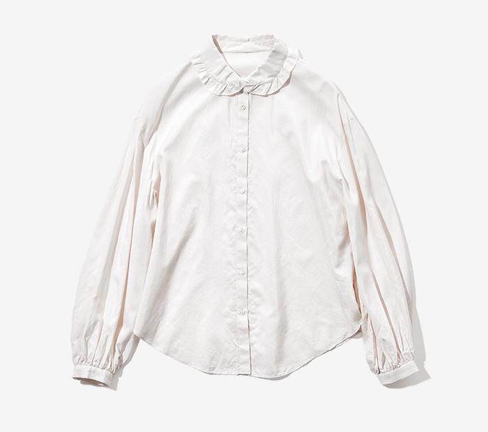 HUMORESQUE frill neck blouse