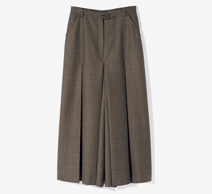 MAISON MARGIELA checked culotte
