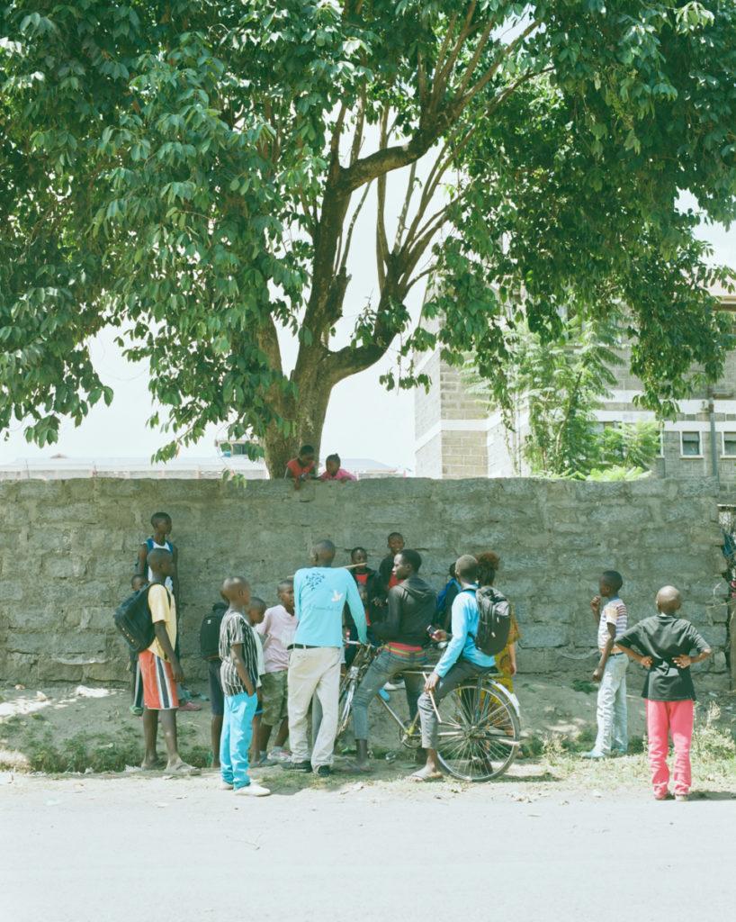 放課後の集会。自転車かっこいいな。