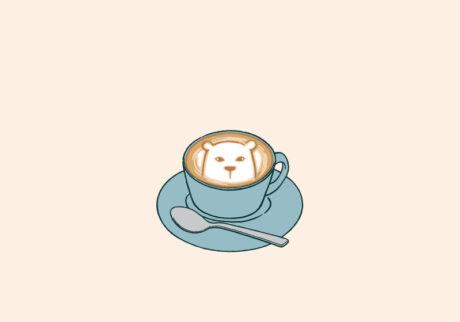 白くまのナヌークのつぶやき。「コーヒーのこと。」