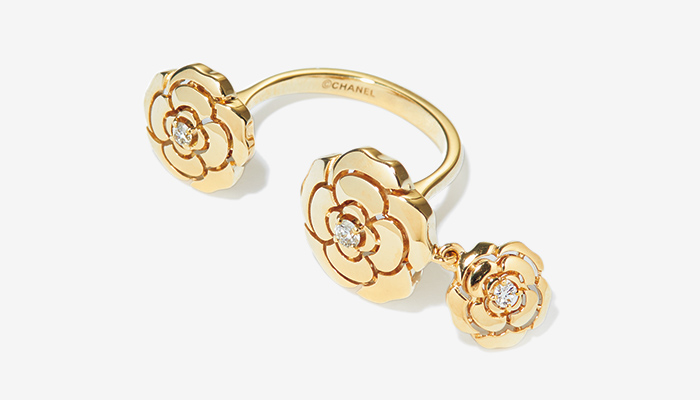 CHANEL ring with charm