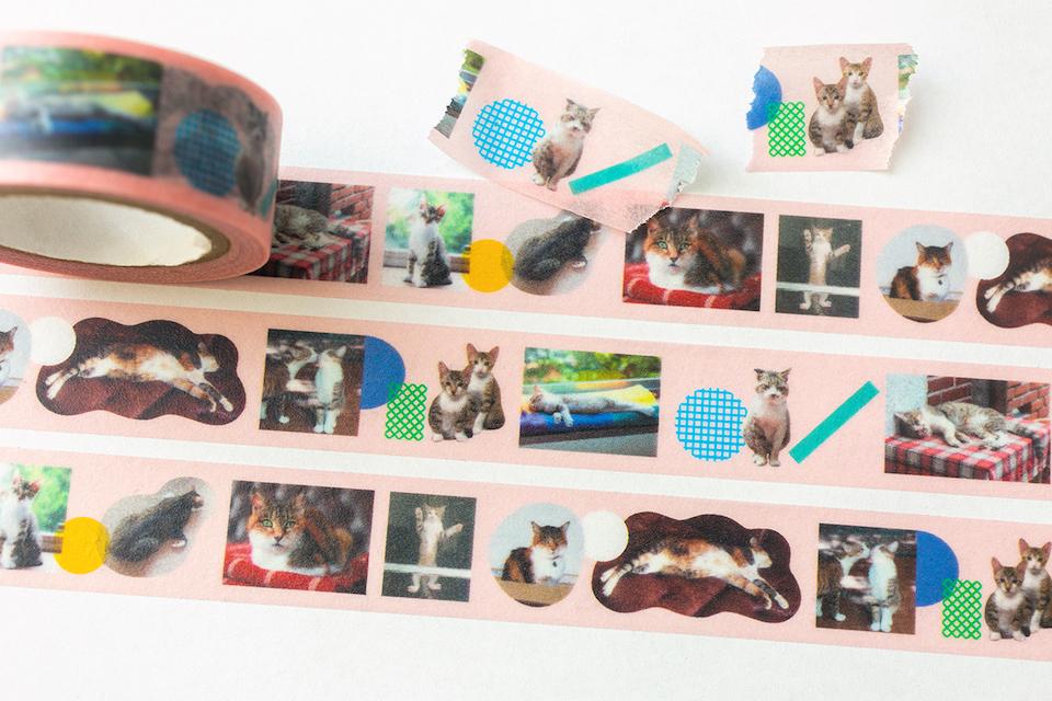 『森岡書店 銀座店』での展示でプレゼントされるマスキングテープ。