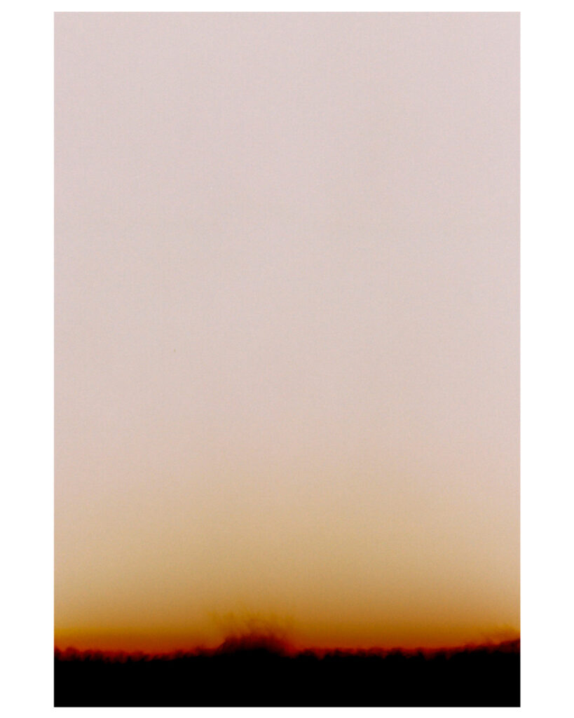2021_02_01 始まり。沈む夕焼けにも見える。