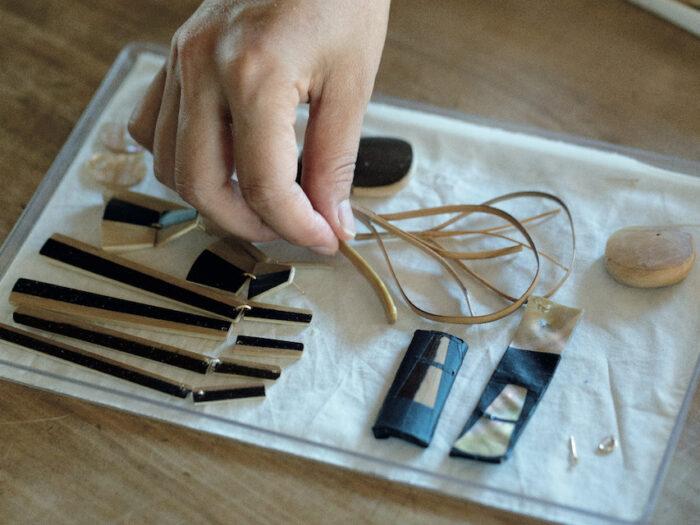 デザイナーの伊藤陽子さんが作ったモックアップ。