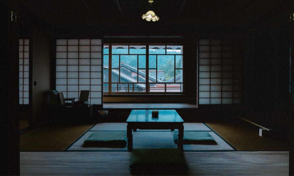 石見銀山の大森地区。歴史的建造物や文化財が江戸時代の面影を残す。