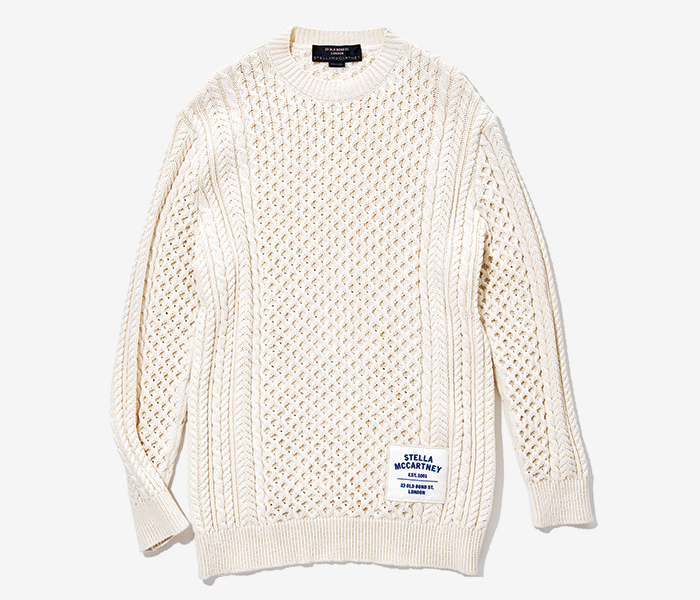 STELLA  MCCARTNEY white knit  with logo