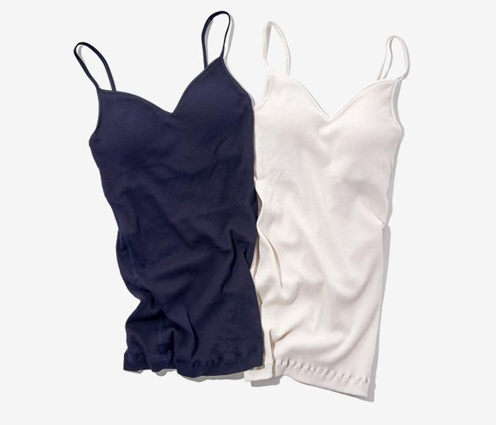 SOUPLE LUZ silk cotton bra-camisole