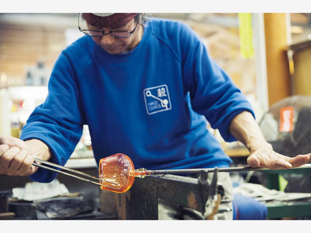 高温で作られる萩ガラスは強度も高い。