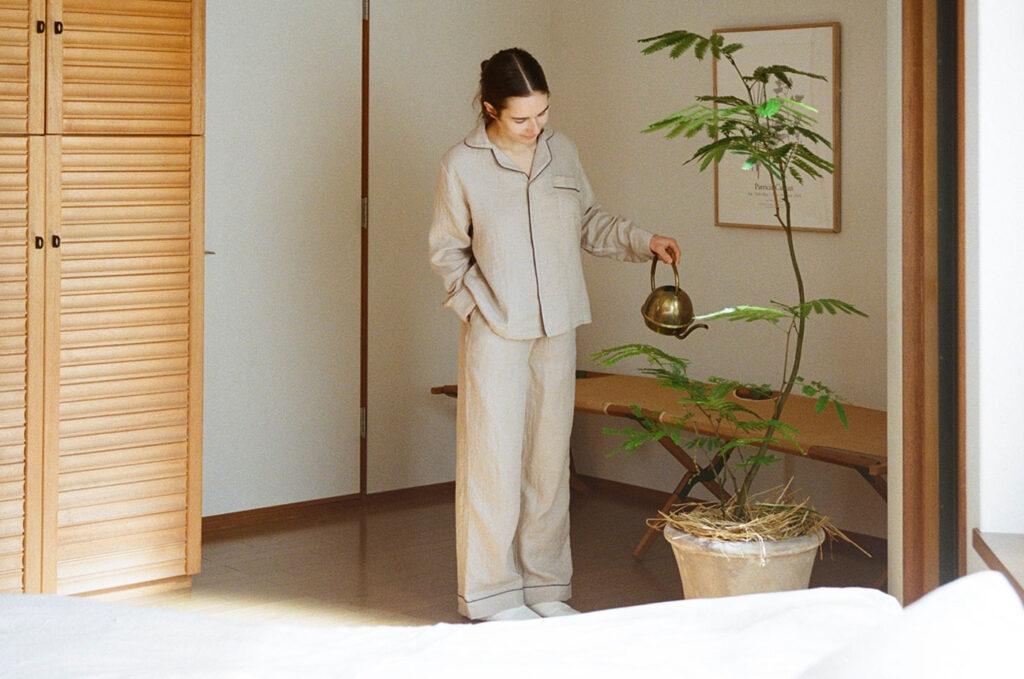 &Premiumマシュマロガーゼパジャマ(テキストリンク入りますURL未)¥18,000(アーバンリサーチ)その他スタイリスト私物