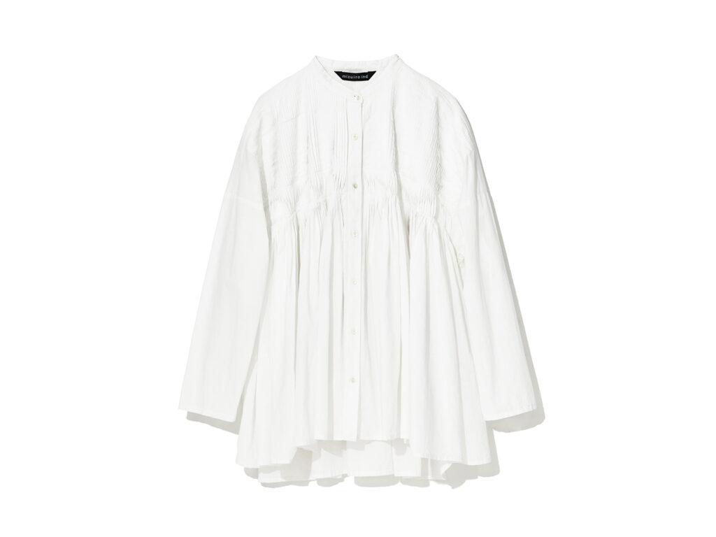 スタンドカラーピンタックシャツ¥16,940