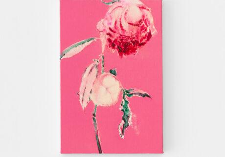 「薔薇」キャンバス、油彩/撮影:稲口俊太