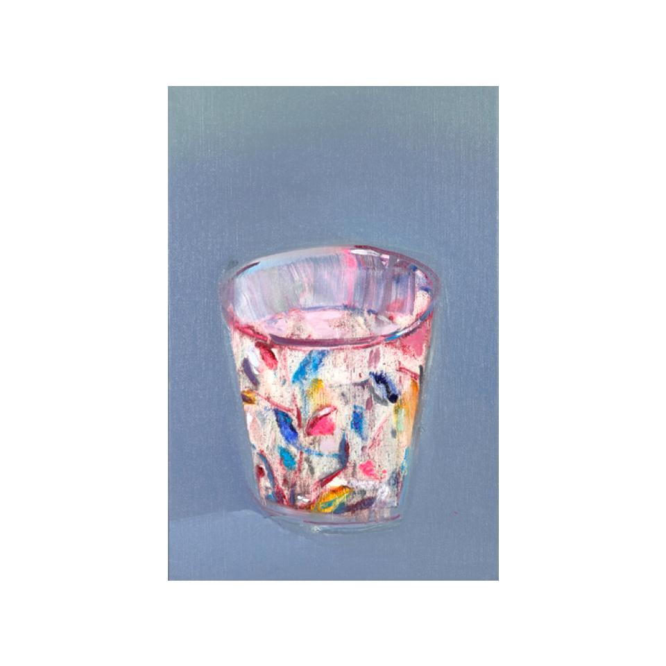 「グラス」 キャンバス、油彩