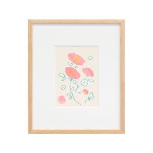 「初花や鳥もしらすにきのふけふ」 紙、水彩、色鉛筆 /撮影:稲口俊太