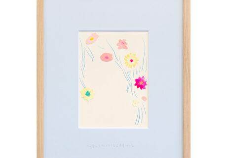 「何着てもうつくしうなる月見かな」  紙、水彩、色鉛筆/撮影:稲口俊太