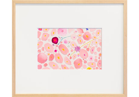 「蝶々や何を夢見て羽つかひ」紙、水彩、色鉛筆 /撮影:稲口俊太(題名は加賀千代女の句)