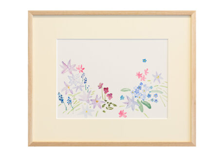 「春の結婚式」紙、水彩/撮影:稲口俊太
