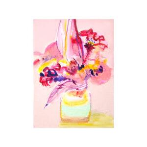 「韓藍」キャンバス、油彩