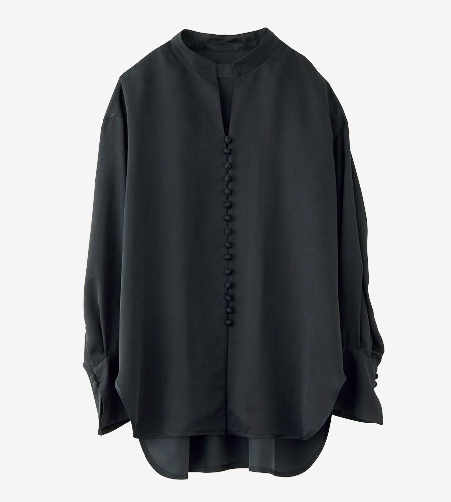 MAME  KUROGOUCHI black silk shirt
