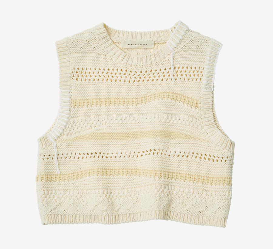 MONICA CORDERA knit short vest