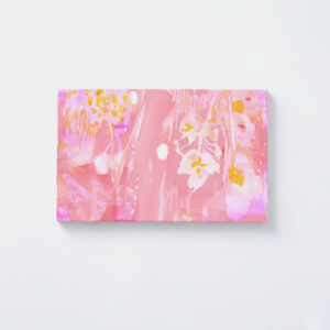 「雨とピンク」キャンバス、油彩