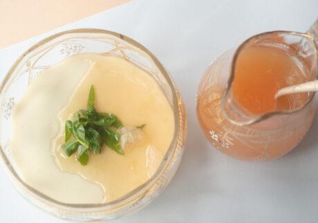 タラゴンの豆花 レモンバーベナのシロップ