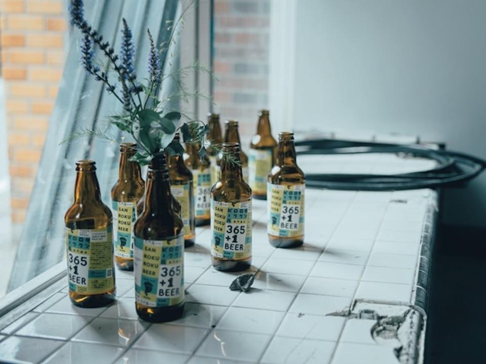 長門ゆずきちなど地元の素材を使ったクラフトビールの醸造所『365 1 BEERサンロクロクビール』(長門市深川湯本1247‒2)。タップルームも併設。
