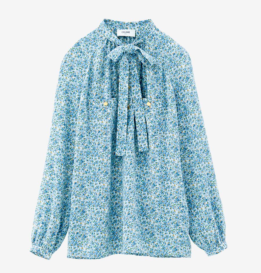 CELINE  BY HEDI SLIMANE blouse with tie