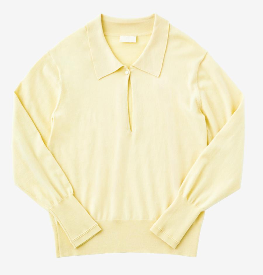 W/CASHMERE polo knit