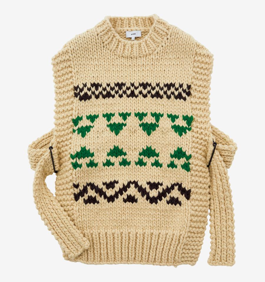 HYKE knit vest