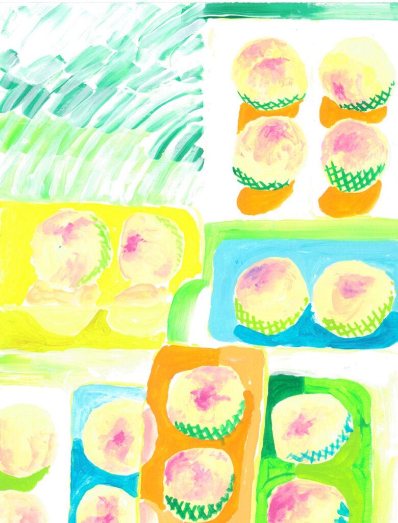 今日は桃の日
